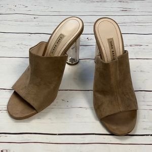 Zara Basic Open Toe Heels